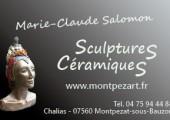 Carte de visite MC Salomon, côté sculpture