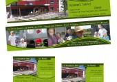 Marque-page et cartes de visite Ehpad Les Tilleuls