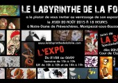 Invitation Le Labyrinthe de la Folie 2015