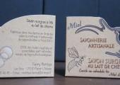 Packaging savon artisanal au lait de chèvre