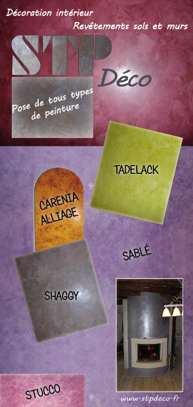 Flyer Publicitaire Pour Un Artisan En Decoration Interieure STP Deco Carte De Visite Dune Artiste Peintre Et Ceramiste Marie Claude Salomon